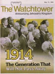 watchtower quote - 1914 the generation that will not pass away