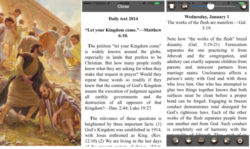 screen shot of Examining Scriptures app 0